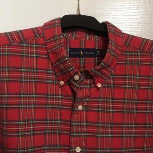 Ralph Lauren 3XB/Big Long Sleeve Plaid Shirt